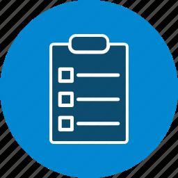 checklist, document, file, list, sheet icon