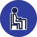 chair, desk, furniture icon