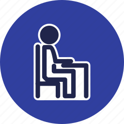 chair, desk, furniture, office, work icon