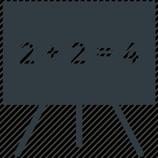 blackboard, chalk board, easel, white board, writing board icon