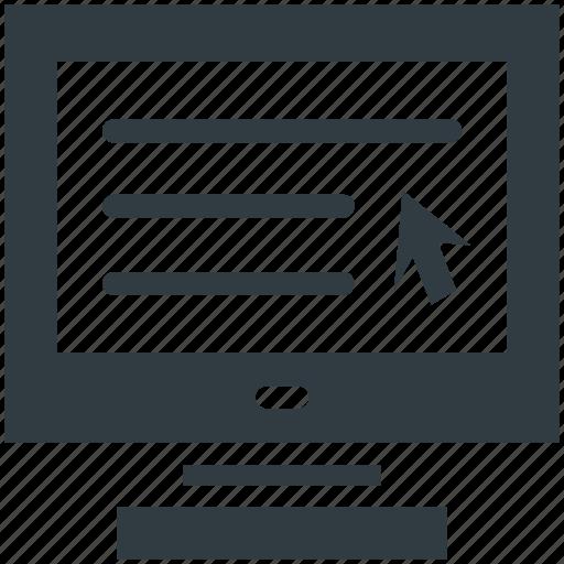 Cursor, indicator, pointer, click, arrow icon