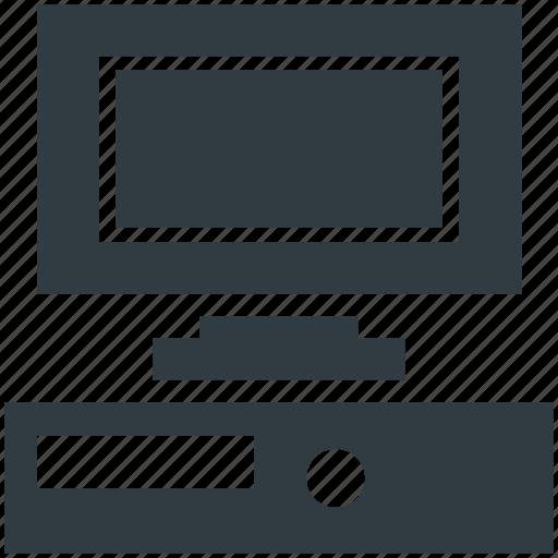 desktop, flat screen, monitor, pc, screen icon