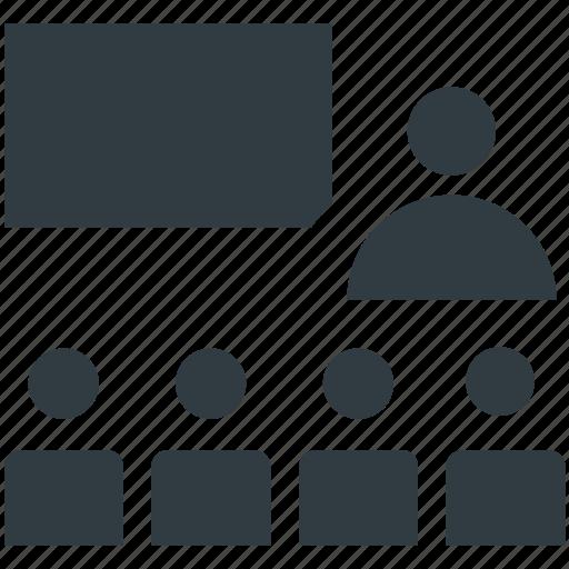 business presentation, classroom, education, entrepreneurship, presentation icon