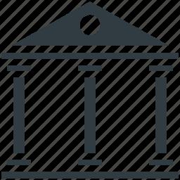 building, court, court building, court of law, courthouse, institute icon