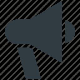 bullhorn, loud hailer, megaphone, sound, speaking trumpet icon