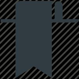 bookmark, education, learning, ribbon icon