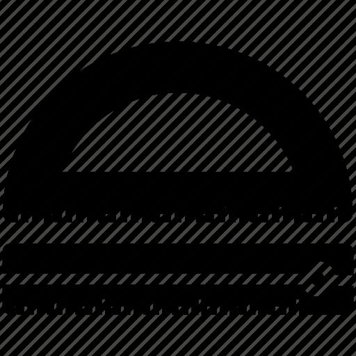 design, drawing, math, semicircle icon icon