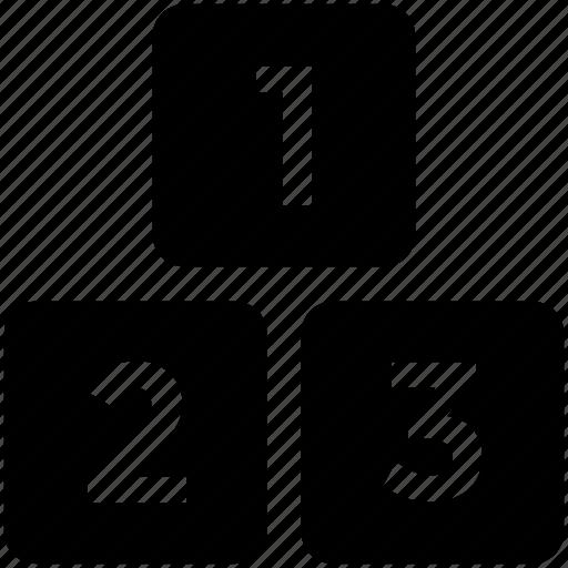 blocks, education, elementary, school icon icon