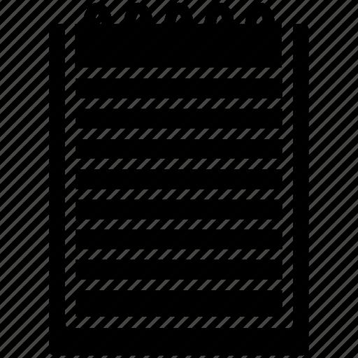 note, pad icon icon