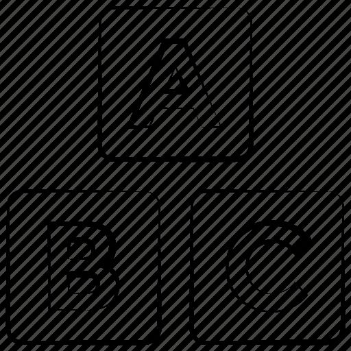 abc, alphabet, blocks icon