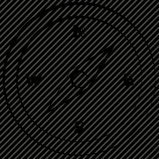 compass, navigation, tool, transportation icon