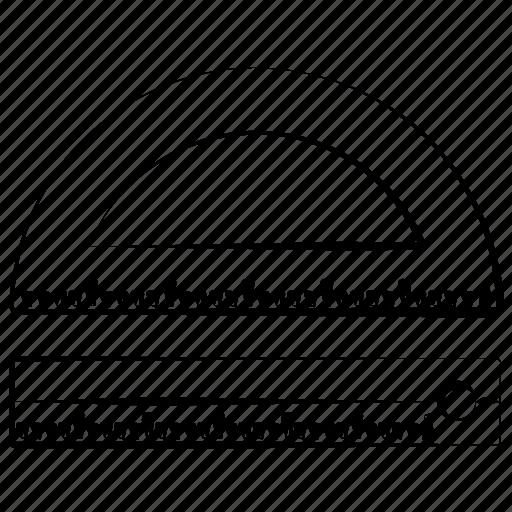 design, drawing, math, semicircle icon