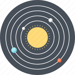 astronomy, cosmos, planet, research, science, space, sun icon