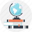 book, education, geography, globe, map, navigation, world icon