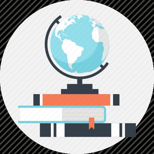 book, education, geography, globe, map, navigation, world icon