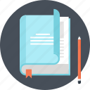book, education, knowledge, learn, literature, read, study icon