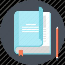 book, education, knowledge, learn, literature, read, study icon