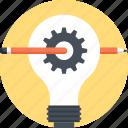 bulb, concept, design, development, idea, lamp, light icon