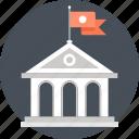 bank, building, college, education, knowledge, school, university icon