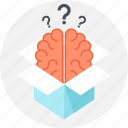 box, brain, brainstorming, education, idea, knowledge, thinking icon