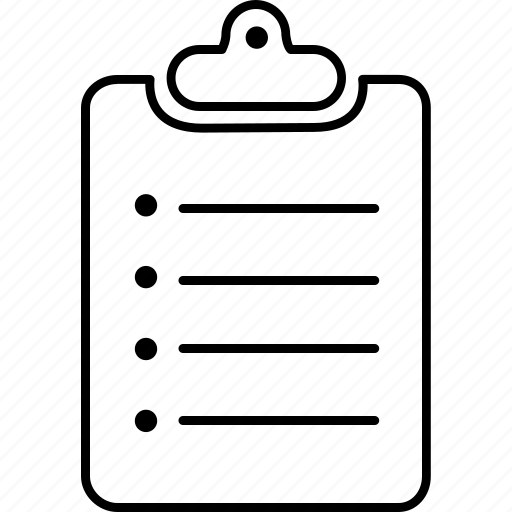 aluminium, clipboard, paper, text, writing icon