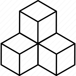 cube, dimension, geometry, prism, square icon