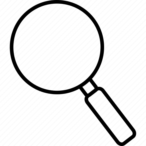 hand lens, lens, magnifying glass, optical, zoom icon