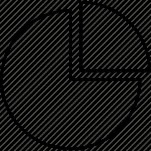 chart, data, diagram, graph, information, math, pie icon