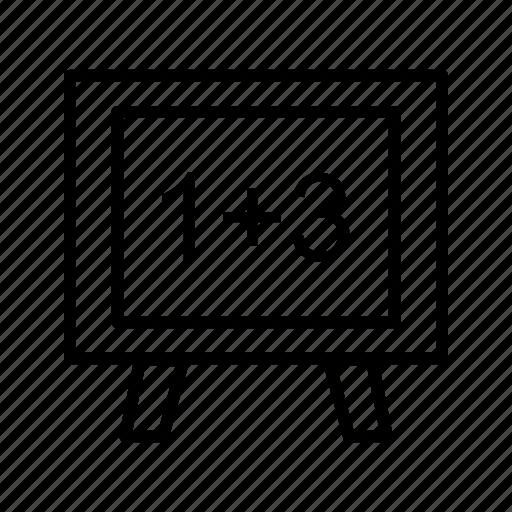 blackboard, calculation, mathematical, mathematics, school, whiteboard icon