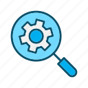 find, search, setting, view icon