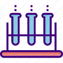 chemistry, chemistry test, experiment, medical, test, test-tube, tubes icon