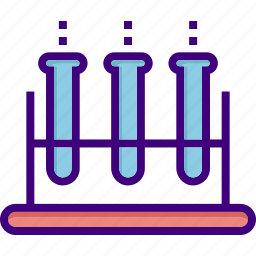 chemistry, chemistry test, experiment, medical, test, test-tube, tubes icon