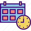 calendar, clock, date, event, schedule, scheduler, time icon