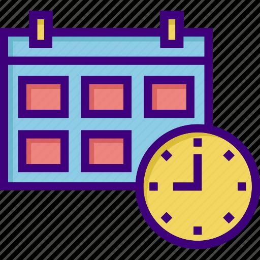 calendar, clock, date, event, schedule, scheduler, time icon