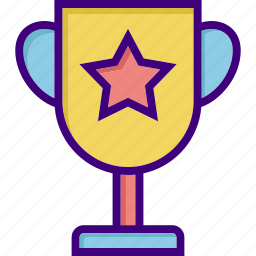 award, cup, prize, star, trophy, trophy cup, winning cup icon