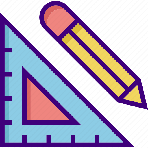 drawing, geometric, geometry, pencil, shape, tool, triangle icon