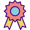 award, award badge, badge, medal, prize, ribbon, winner icon