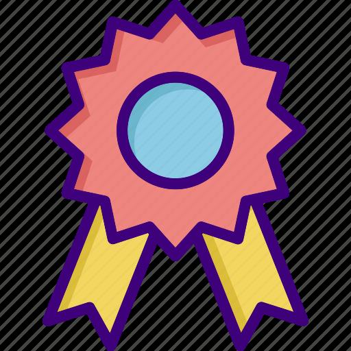award, award badge, badge, medal, prize, ribbon, winner icon