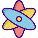 atom, chemistry, laboratory, medical, physics, research, science icon