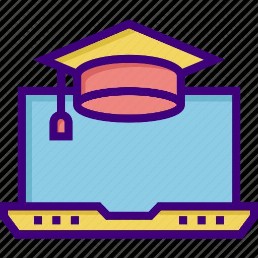 degree, education cap, graduation, online education, online graduation, scholarship, study icon