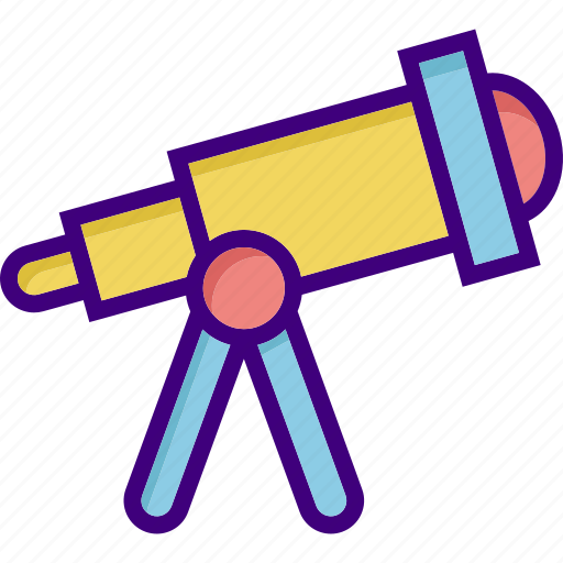astronomy, gastronomy, observation, space, telescope, view, zoom icon