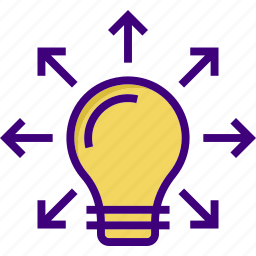 bulb, connection, ideas, share, share ideas, sharing, solution icon
