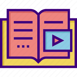 audio book, book, e learning, education, learning, school icon