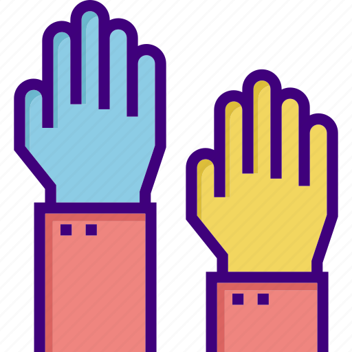 aim, aspirations, business, goal, hand, target, two hands icon