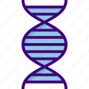 atom, biology, chemistry, dna, dna strand, medical, science icon