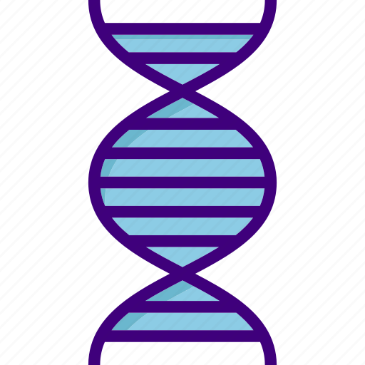 atom, biology, chemistry, dna, dna strand, medical, science icon