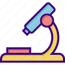 biological, examination, microscope, research, school, search, study icon
