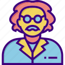 chemistry, education, einstein, physics, school, science, scientist icon