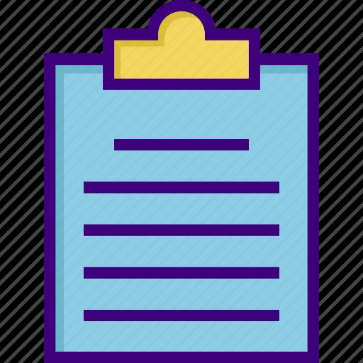 checklist, clipboard, list, menu, note, notepad, office icon