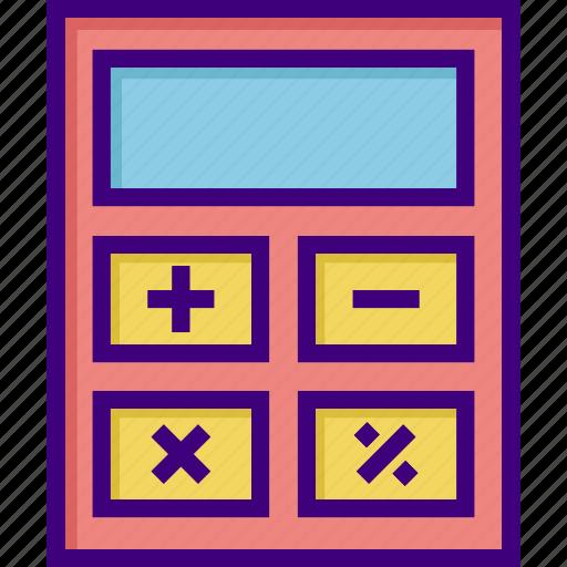 accounting, budget, calculate, calculation, calculator, math, mathematics icon